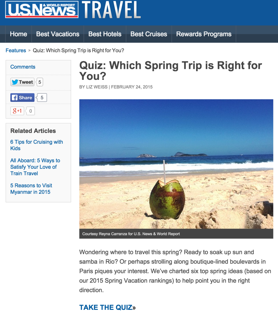 us news travel quiz