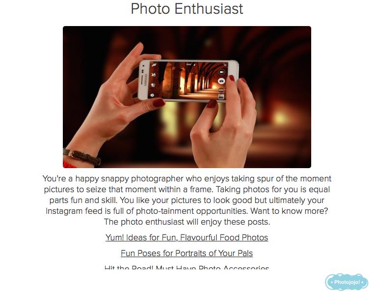 photo quiz result enthusiast