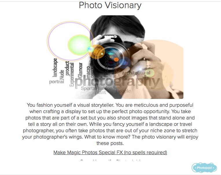 photo quiz result visionary