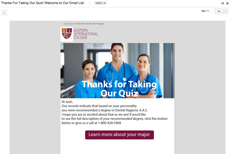 quiz email capture follow up