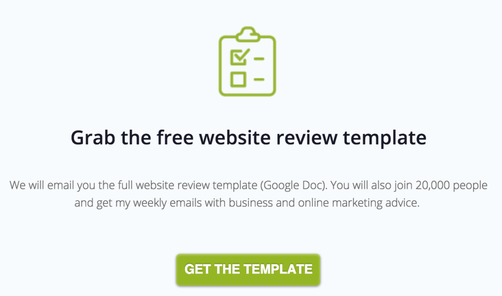website review template