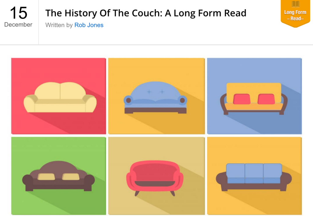 history of couches