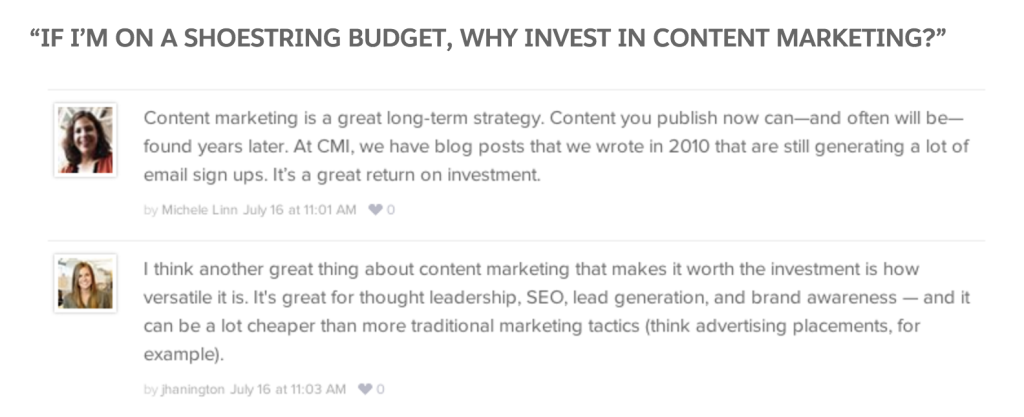 use questions as blog posts