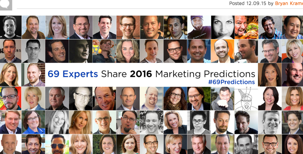 expert opinions on marketing for 2016