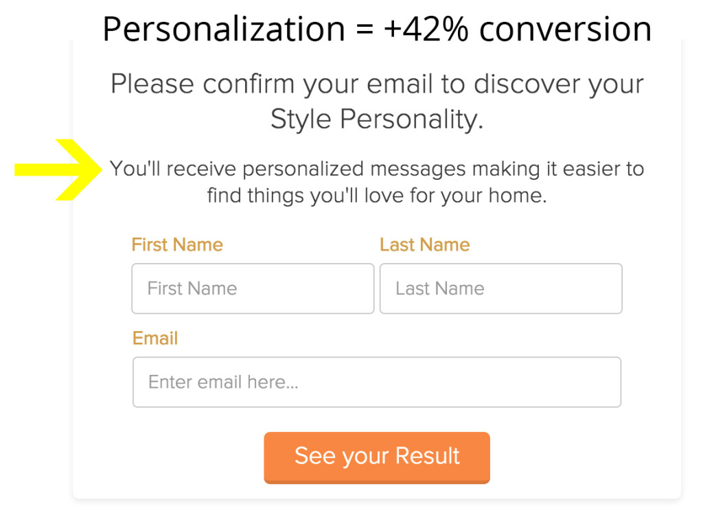 personalize call to action to increase conversions