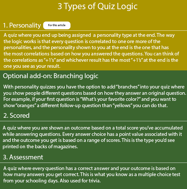How To Make The Logic For Your Personality Quiz Interact Blog