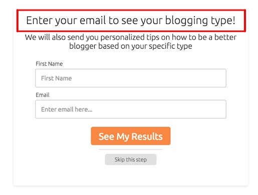 What's your blogging type? optin form