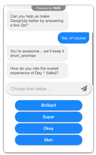 chatbot for rating a conference