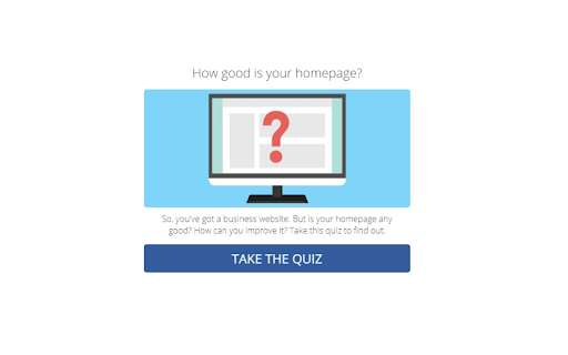 quiz cover with how good is your website and an icon of a computer with a question mark