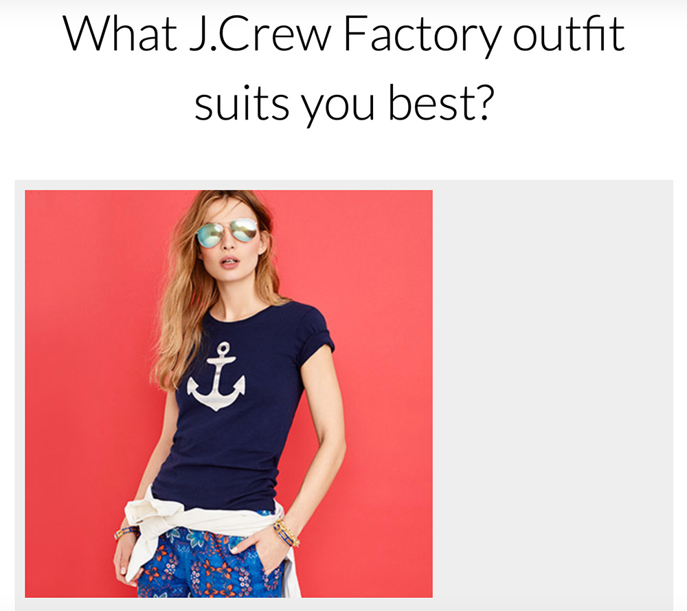 quiz question about J Crew style fits you best