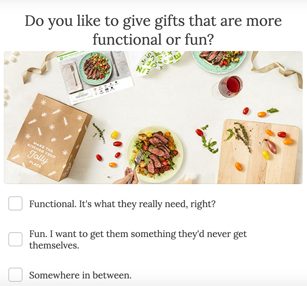 question about the person getting the gift