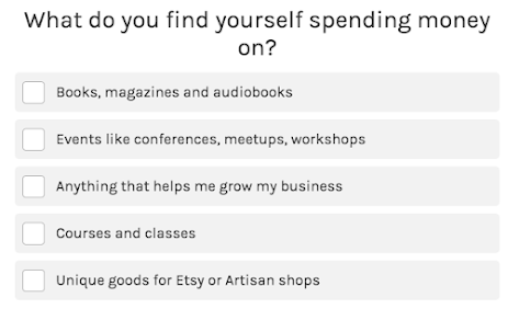 quiz question on where you spend your money
