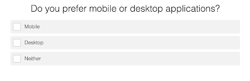 an easier version of same question mobile or desktop apps