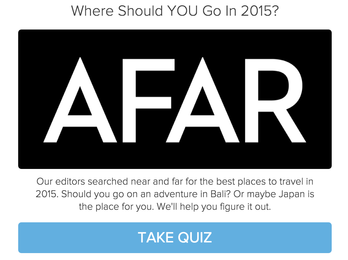 quiz cover with AFAR on black background and where should you go in 2015