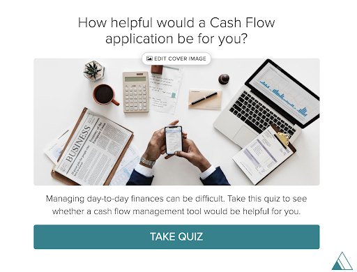 quiz cover for quiz about How helpful would a Cash Flow application be for you?