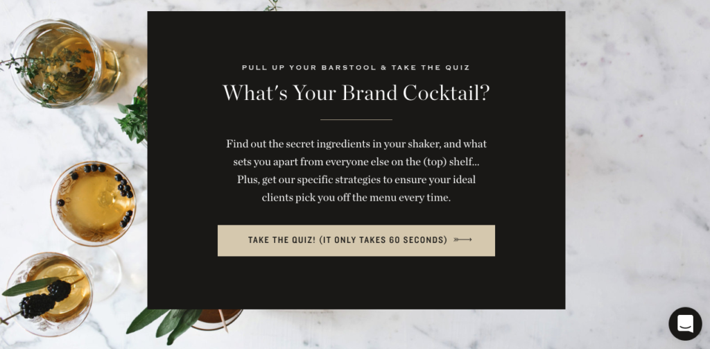 quiz cover for brand cocktail