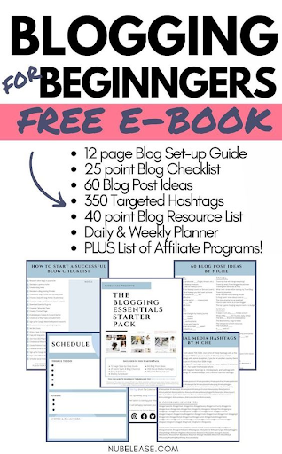 blogging for beginners ebook pin