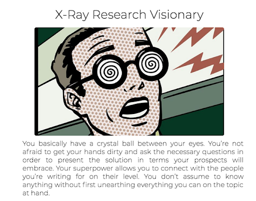 quiz results with x-ray cartoon