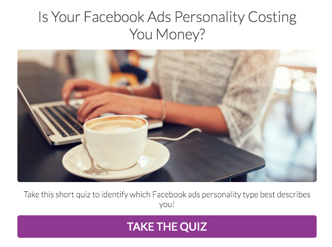 what's your facebook ads personality quiz