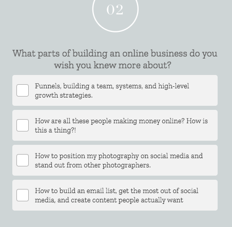 quiz question What parts of building an online business do you wish you knew more about