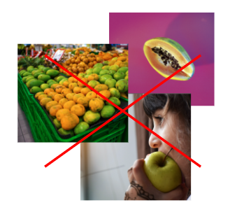 fruit pictures in different styles