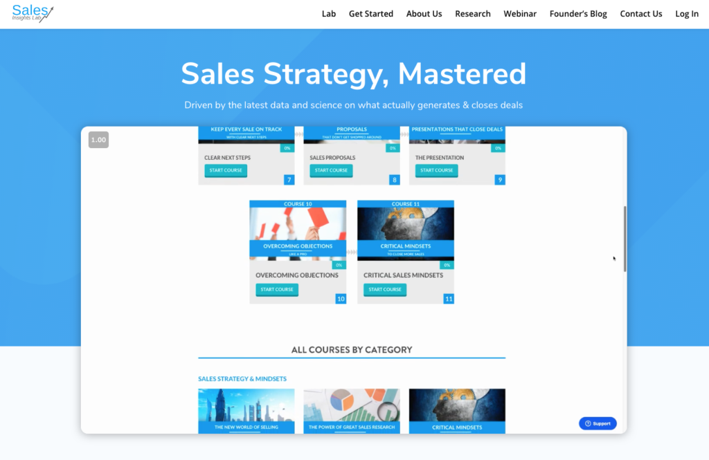 Sales Strategy Mastered landing page