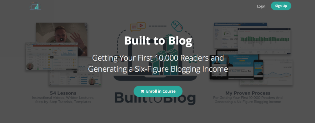Built to Blog course cover