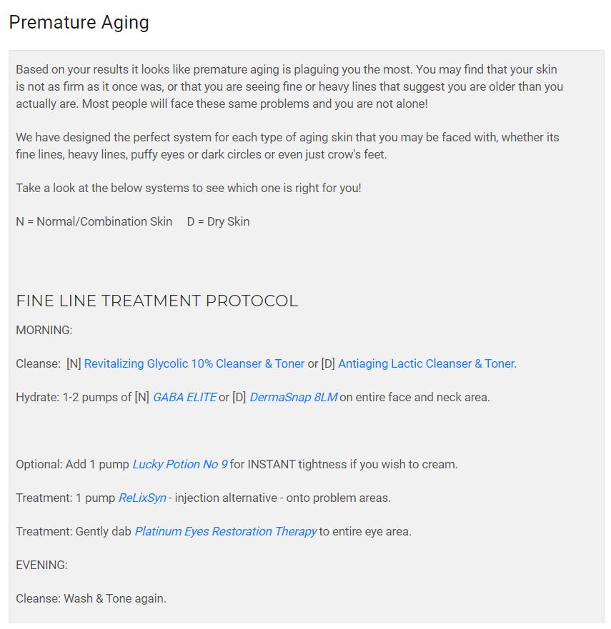 premature aging information