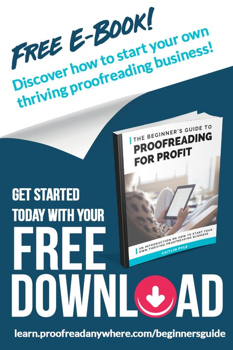 free e-book on proofreading for profit