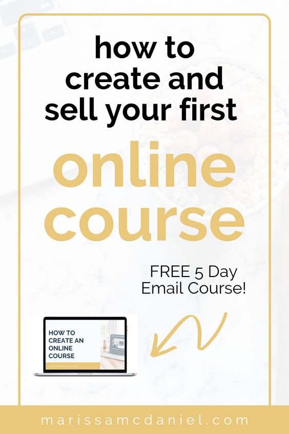 how to create online course email course pin